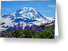 Mount Baker Wildflowers Greeting Card