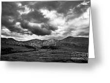 Mount Bierstadt Black And White Greeting Card