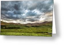Mount Bierstadt Cloudy Evening 2x1 Greeting Card