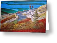 Mount Cadilac Path Greeting Card
