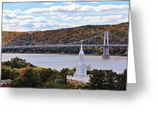 Mount Carmel And The Mid Hudson Bridge Greeting Card