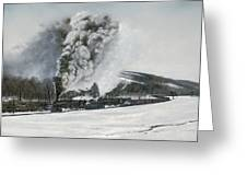 Mount Carmel Eruption Greeting Card