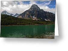 Mount Chephren From Waterfowl Lake - Banff National Park Greeting Card