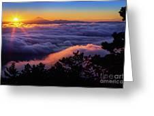 Mount Constitution Sunrise Greeting Card