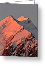 Mount Cook Range On South Island In New Zealand Greeting Card