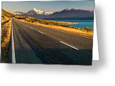 Mount Cook Road Greeting Card