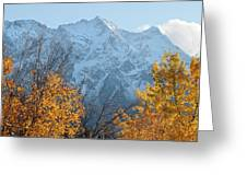 Mount Currie Autumn Greeting Card