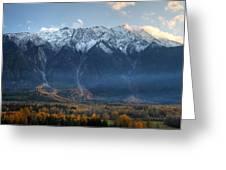 Mount Currie Hdr Pemberton B.c Canada Greeting Card
