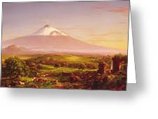 Mount Etna Greeting Card