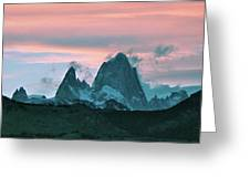 Mount Fitz Roy At Dusk Greeting Card