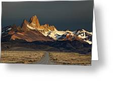 Mount Fitz Roy At Sunrise, Patagonia, Argentina Greeting Card