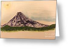 Mount Fuji And Power Of Mystery Greeting Card