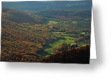 Mount Greylock Foliage View Greeting Card