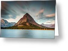 Mount Grinnell In Glacier Np Greeting Card
