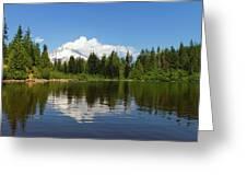 Mount Hood By Mirror Lake Greeting Card