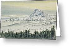 Mount Hood Evening Greeting Card