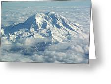 Mount Hood From Above Greeting Card