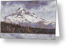 Mount Hood From Lost Lake Greeting Card by John Winner