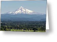 Mount Hood In The Summer Greeting Card