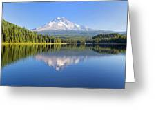 Mount Hood On A Sunny Day Greeting Card