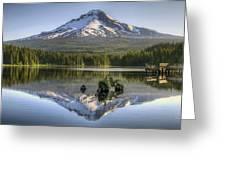 Mount Hood Reflection On Trillium Lake Greeting Card