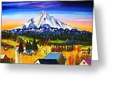 Mount Hood River Valley #1. Greeting Card