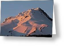 Mount Hood Sunset Glow Greeting Card
