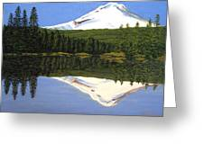Mount Hood-trillium Lake Greeting Card