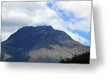 Mount Imbabura And Cloudy Sky Greeting Card