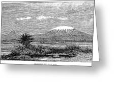 Mount Kilimanjaro, 1884 Greeting Card