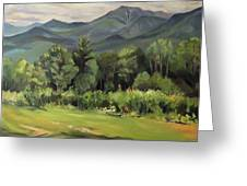 Mount Lafayette From Sugar Hill New Hampshire Greeting Card