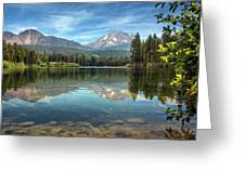 Mount Lassen From Manzanita Lake Greeting Card