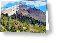 Mount Lassen Volcano Greeting Card