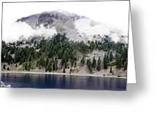 Mount Lassen Volcano In The Clouds Greeting Card