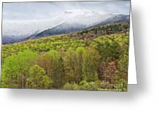 Mount Mansfield Spring Snow Greeting Card