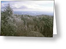 Mount Monadnock Ice Storm Greeting Card