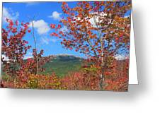 Mount Monadnock Red Maple Foliage Greeting Card