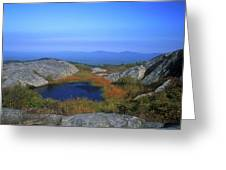 Mount Monadnock Summit Pond Greeting Card