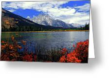 Mount Moran In The Fall Greeting Card