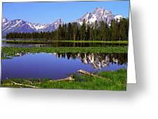 Mount Moran Tetons Nat'l Park Greeting Card