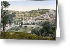 Mount Of Olives, C1900 Greeting Card