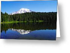Mount Rainer Reflecting Into Reflection Lake Greeting Card
