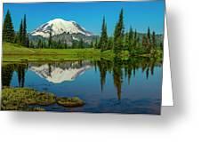 Majestic Reflection - Mount Rainier - 2 Greeting Card