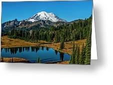 Natures Reflection - Mount Rainier Greeting Card
