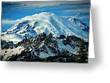 Early Snow - Mount Rainier  Greeting Card