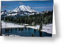 Mount Rainier - Tipsoo Lake Greeting Card
