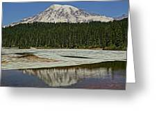 Mount Rainier Reflection Lake Greeting Card