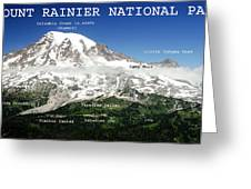 Mount Rainier South Side Greeting Card
