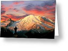 July In Washington, Mount Rainier National Park Greeting Card
