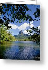 Mount Rotui From Across Opunohu Bay Greeting Card